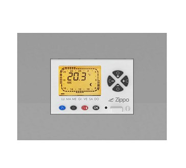 Weekly programmable electronic thermostat for modular serie